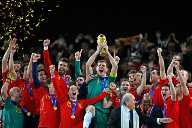 Selección española campeona del Mundial 2010