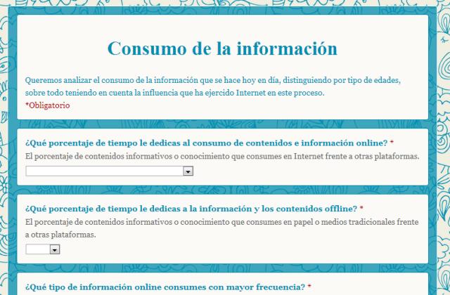 encuesta consumo contenidos online